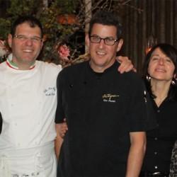 Carlo Zarri con Paola e chef Ken Frank a Napa Valley