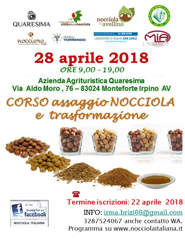 _1locandina corso nocciola avellino 28 aprile 2018